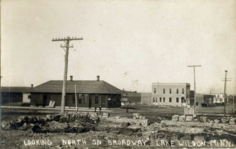 Business on Broadway Avenue, Lake Wilson, Minnesota, 1912