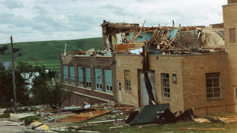 Lake Wilson school after 1992 tornado