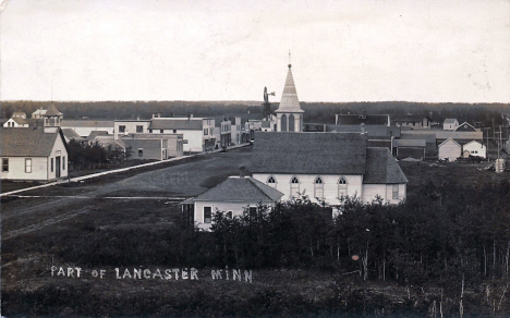 View of Lancaster Minnesota, 1910's