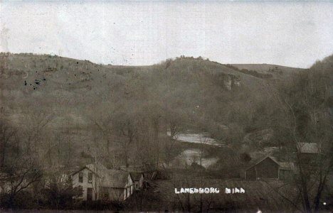 General view, Lanesboro Minnesota, 1910