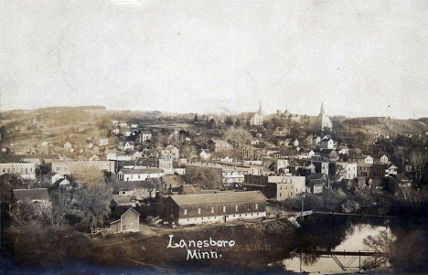 Birds eye view, Lanesboro Minnesota, 1908