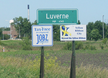 Welcome to Luverne Minnesota