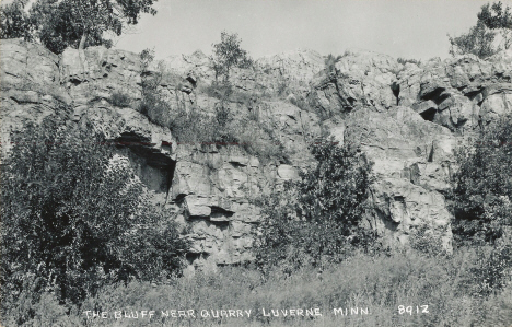 The Bluff near Quarry, Luverne Minnesota, 1950's