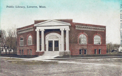 Public Library, Luverne Minnesota, 1910's