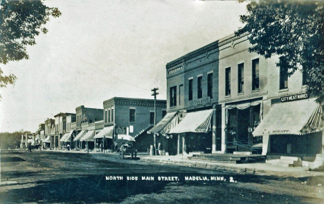 North side of Main Street, Madelia Minnesota, 1913