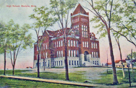 High School, Madelia Minnesota, 1908