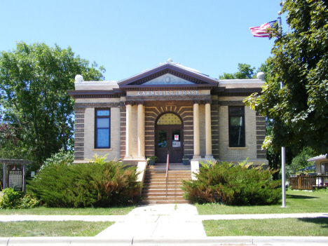Carnegie Library still in use as Public Library, Madison Minnesota, 2014