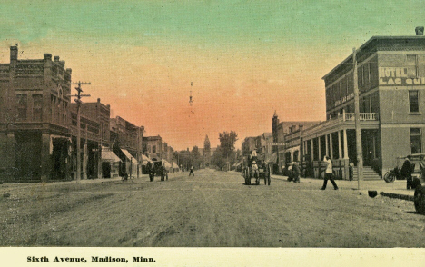 Sixth Avenue, Madison Minnesota, 1908