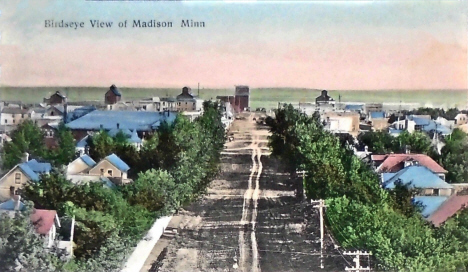 Birdseye view, Madison Minnesota, 1910