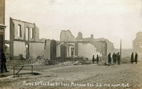Ruins after Fire, Madison Minnesota, December 23rd, 1910