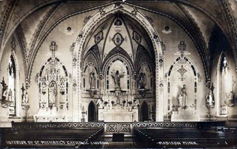 Interior of St. Michael's Church, Madison Minnesota, 1914