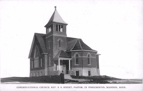 Congregational Church, Madison Minnesota, 1910's