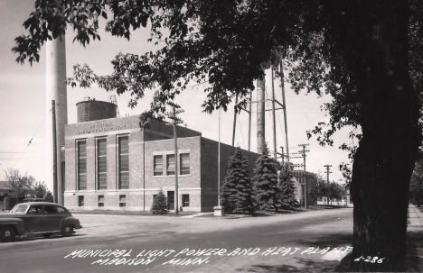 Municipal Light, Power and Heat Plant, Madison Minnesota, 1940's