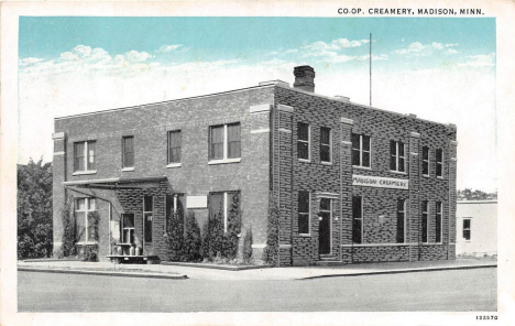 Creamery, Madison Minnesota, 1928