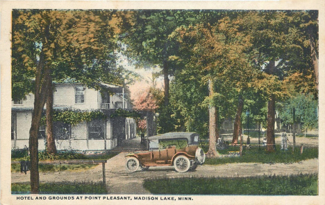 Grounds and Hotel at Point Pleasant, Madison Lake Minnesota, 1933