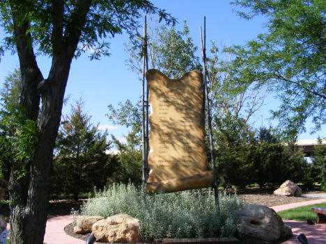 Memorial to the 38 Indians hanged, Mankato Minnesota, 2014