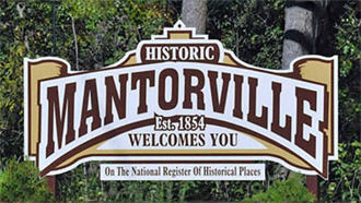 Welcome sign, Mantorville Minnesota