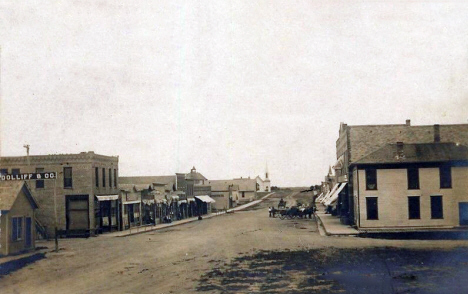 Main Street looking north, Marietta Minnesota, 1907