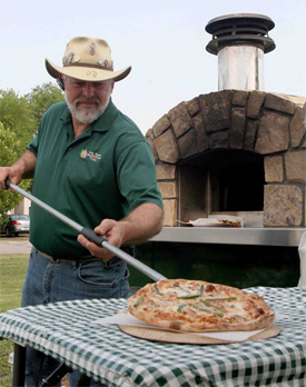 Log Home Wood Fired Pizza, McGregor Minnesota