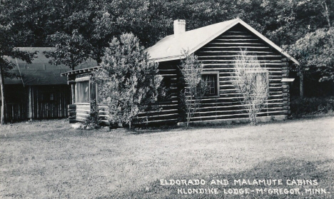 Eldorado and Malamute Cabins, Klondike Lodge, McGregor Minnesota, 1954