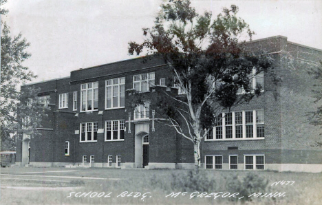 Public School. McGregor Minnesota, 1950