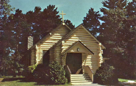 Old Log Chapel on Big Sandy Lake near McGregor Minnesota, 1967