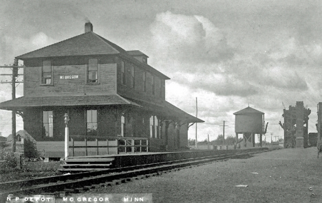 Northern Pacific Depot, McGregor Minnesota, 1910's