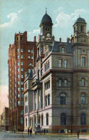 Post Office and Metropolitan Building, Minneapolis Minnesota, 1909