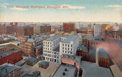 Minneapolis Skyscrapers - View from 7th and Nicollet, Minneapolis Minnesota, 1911