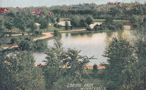Loring Park, Minneapolis Minnesota, 1908