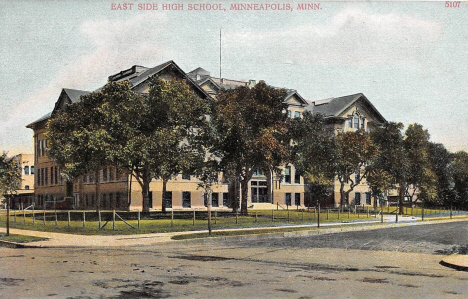 East High School, Central and University Avenue, Minneapolis Minnesota, 1908