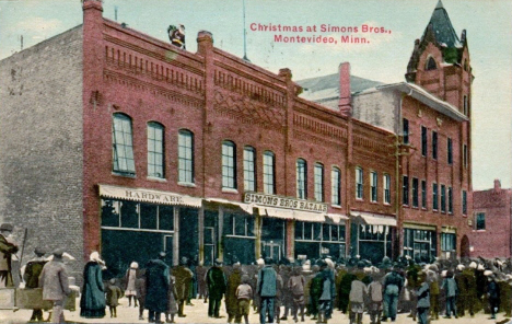 Christmas at Simon Brothers Bazaar, Montevideo Minnesota, 1914