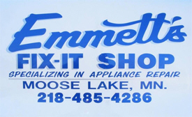 Emmett's Fix-It Shop, Moose Lake Minnesota