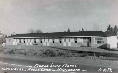 Moose Lake Motel on Highway 61, Moose Lake Minnesota, 1950's