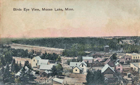 Birds eye view, Moose Lake Minnesota, c1906