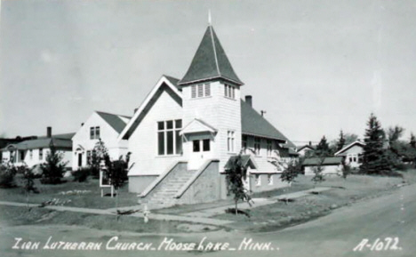 Zion Lutheran Church, Moose Lake Minnesota, 1960