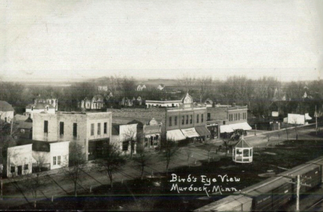 Birds eye view, Murdock Minnesota, 1910