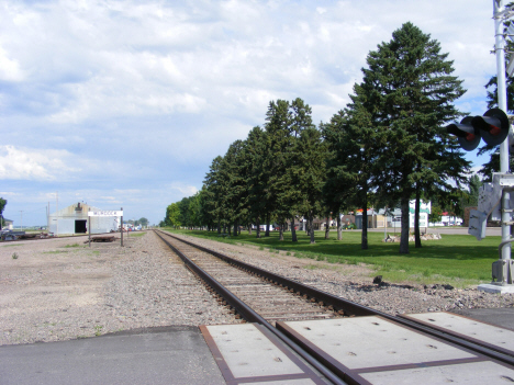 Railroad tracks, Murdock Minnesota, 2014