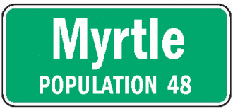 Myrtle Minnesota population sign