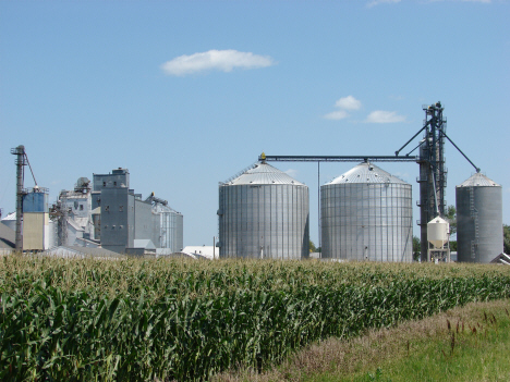 Grain elevators, Nassau Minnesota, 2010