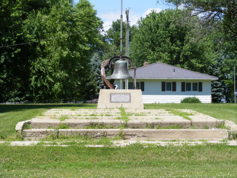 Bell from Nassau Pulic School, razed in 1984, Nassau Minnesota, 2014