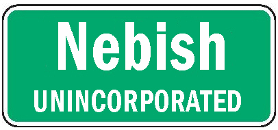 Nebish population sign