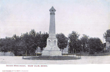 Indian Monument, New Ulm Minnesota, 1907
