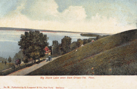 Big Stone Lake seen from Ortonville Minnesota, 1906