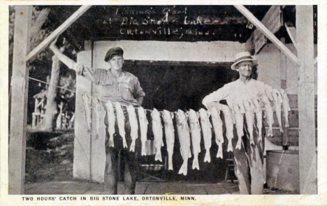 Two hours catch in Big Stone Lake, Ortonville Minnesota, 1924