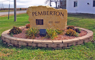 Welcome sign, Pemberton Minnesota