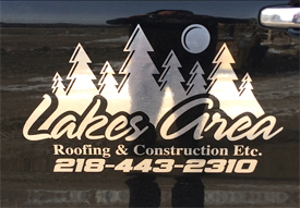 Lakes Area Roofing and Construction, Pine River Minnesota