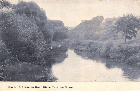 Scene on the Root River, Preston Minnesota, 1913