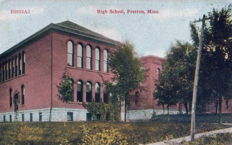 High School, Preston Minnesota, 1910's
