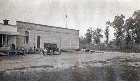 View of the village of Puposky Minnesota, 1918